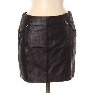 Comptoir des Cotonniers Black Leather Mini Skirt